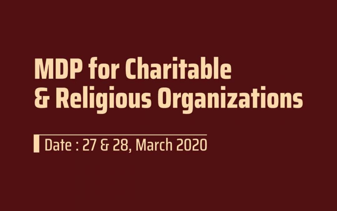MDP for Charitable & Religious Organizations.