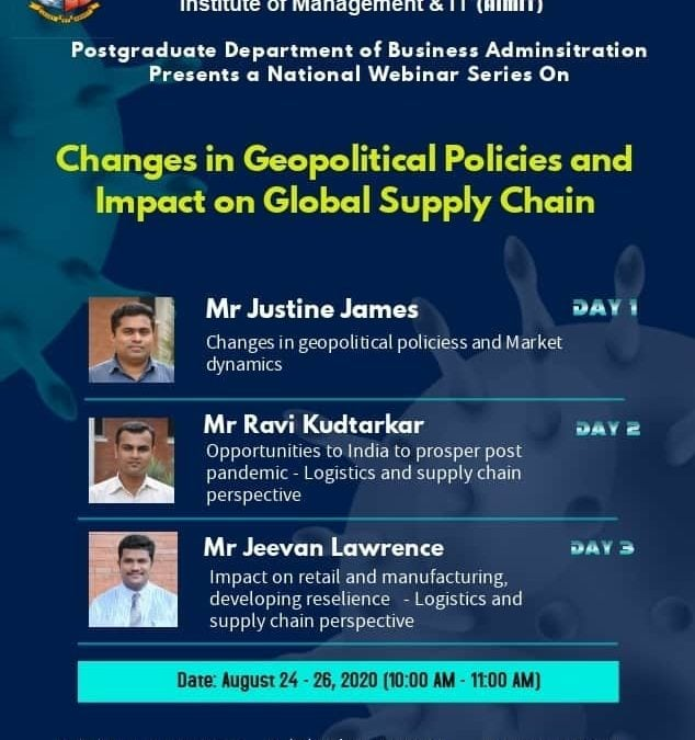 AIMIT Webinars – Changes in geopolitical policies and impact on global supply chain