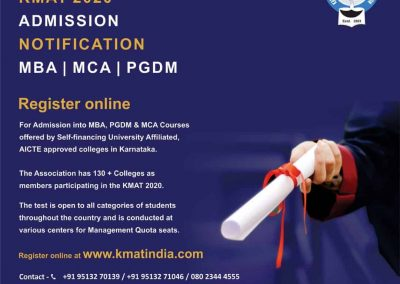 KMAT 2020 Admission Notification for MBA, MCA, PGDM