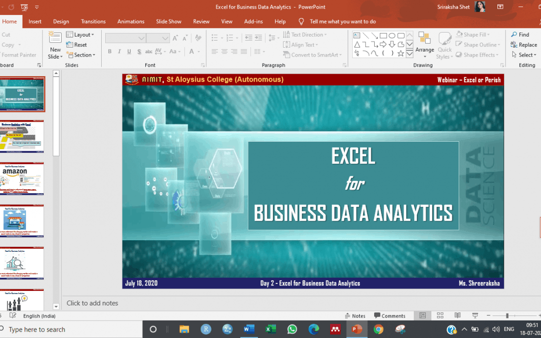 MBA department holds webinar series: Excel or Perish