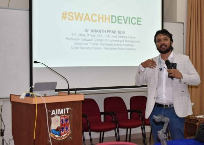 """MBA, IT staff trained in """"Swacch Devices"""""""