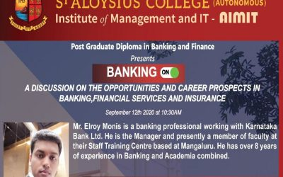 A discussion on the opportunities and career prospects in banking, financial services and insurance