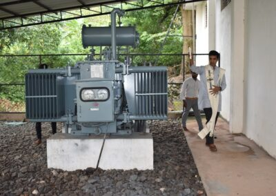 Machinery blessed as part of Ayudha Puja