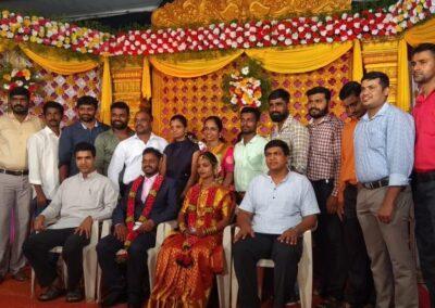 AIMIT greets support staff Kaviraj on his wedding day