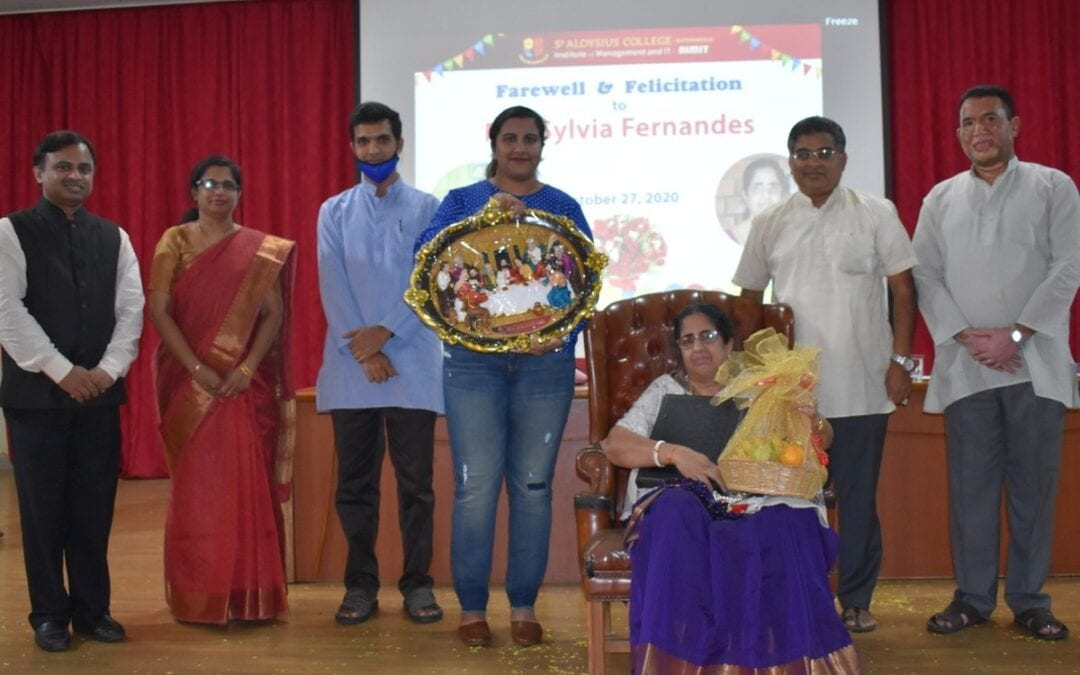 Office Manager Sylvia Fernandes accorded farewell