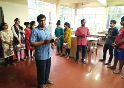 Blessing of hostel food court