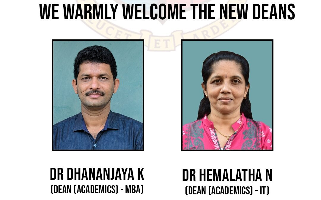 Welcome to the new Deans