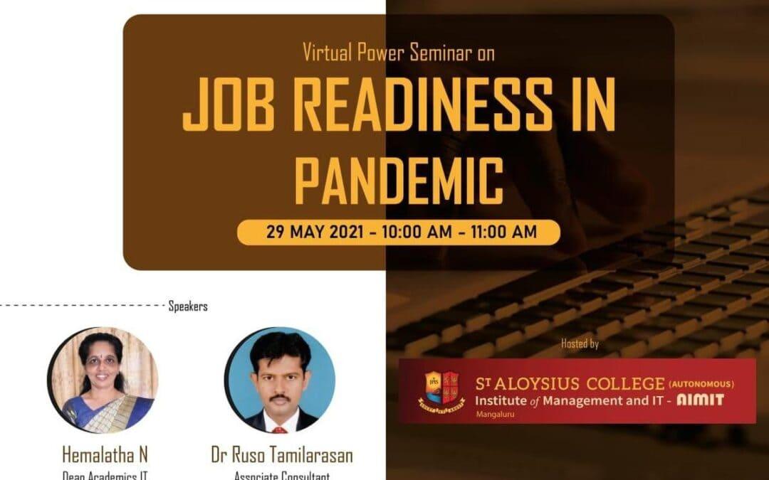 Virtual power seminar on job readiness during pandemic