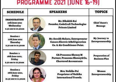 Online Entrepreneurship Development Programme at AIMIT