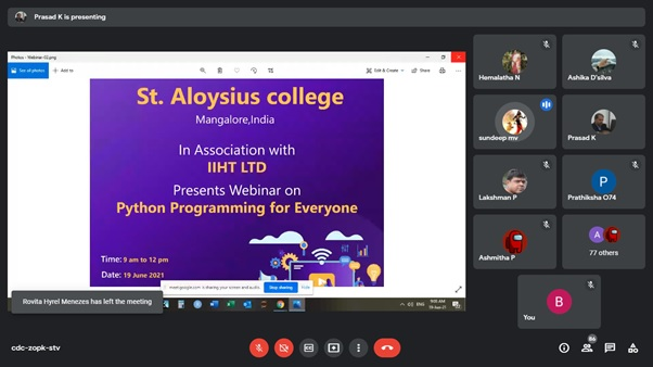 """""""Python Programming for everyone"""" workshop by IIHT Techademy:"""