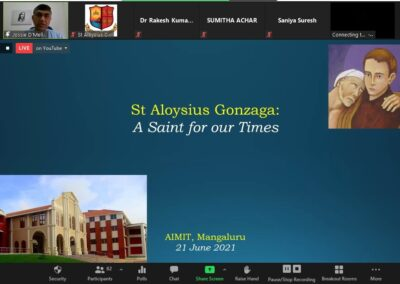 St Aloysius is relevant for Covid times, says Fr Joseph D'Mello