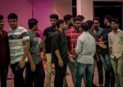 Juniors bid farewell to their senior hostel-mates