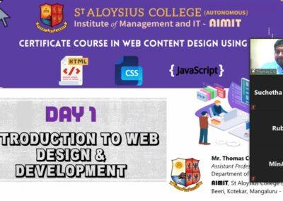 Five-day certificate course in web content design