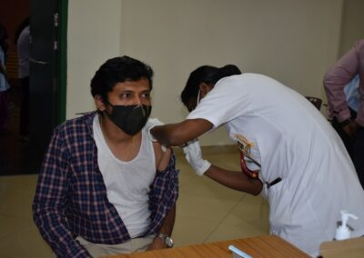 Vaccination drive at AIMIT